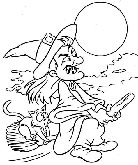 Printable Witch Coloring Pages Coloring Me Witch Coloring Pages