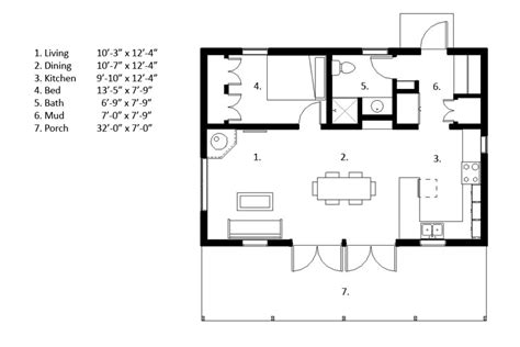 Sip Garage Plans by Cabin Style House Plan 1 Beds 1 Baths 704 Sq Ft Plan 497 14