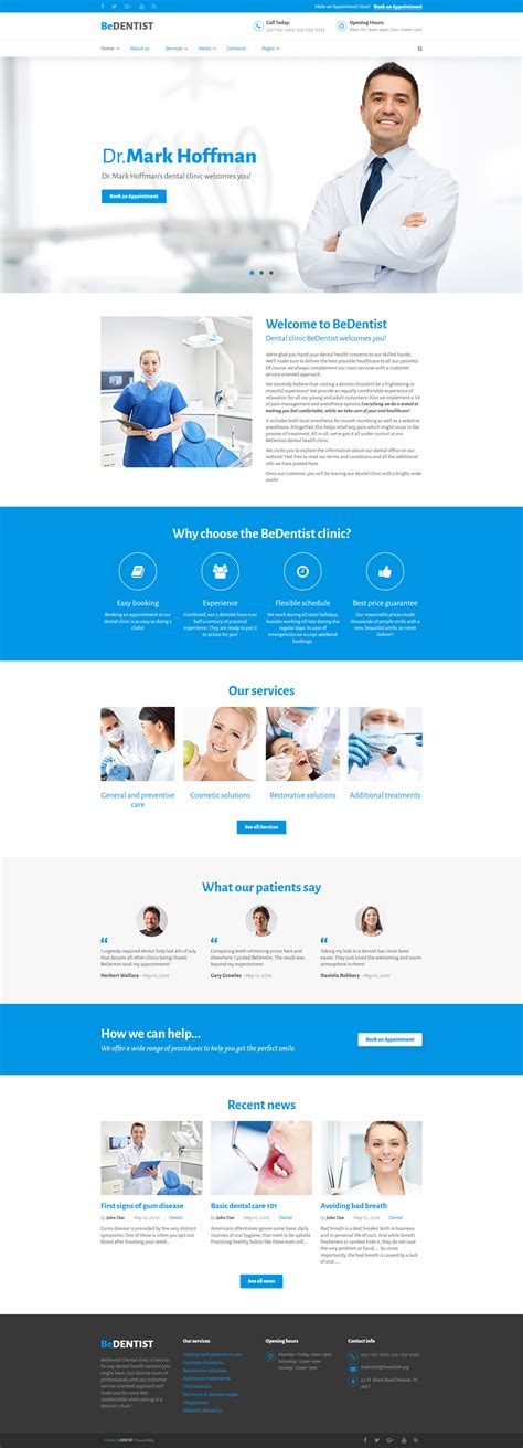 Doctors Office Website Template Office Website Templates