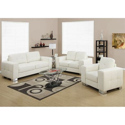 ivory leather sofa set 3 piece leather sofa set in ivory i 8221 2 3 iv pkg