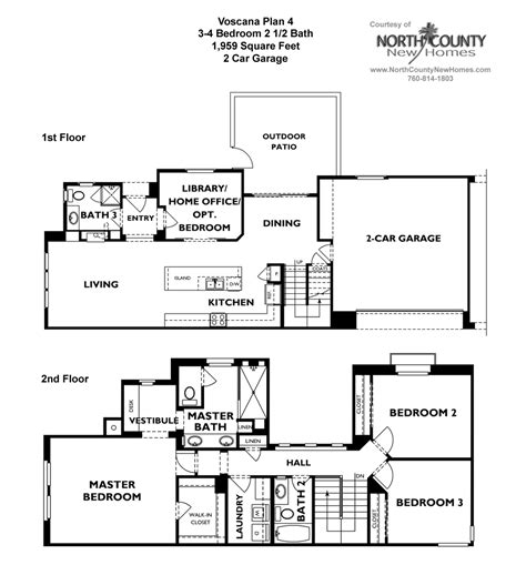 plans for new homes voscana new homes in carlsbad ca by shea homes floor plan 4
