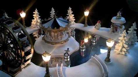 christmas magic winter wonderland animated village carnival skating pond   youtube