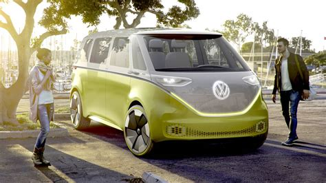 volkswagen minibus electric new vw i d buzz concept van borrows design from old here