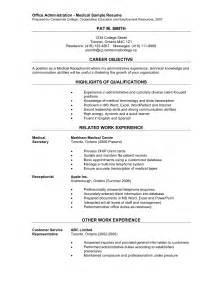 Sample Resume For Medical Office Assistant Office Administration Medical Sample Resume Prepared
