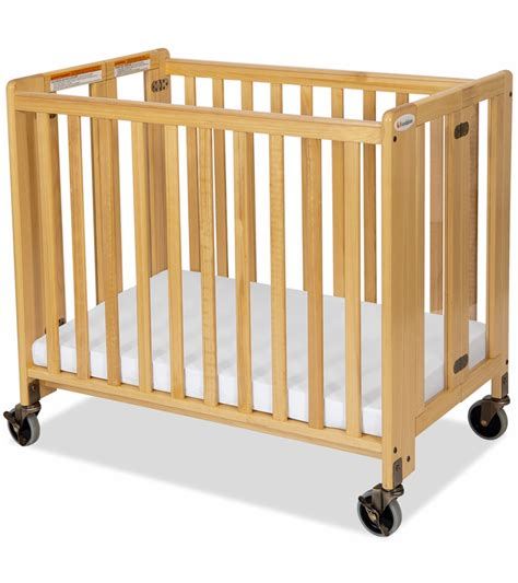 foundations hideaway easyroll wooden folding crib in