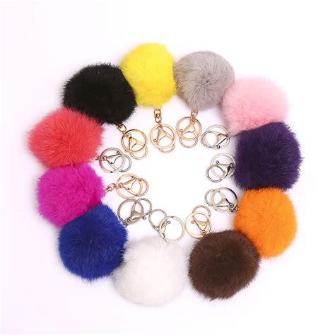 Keychain Pom Pom Real Rabbit Hair Bulb Bag Fur gift ornament reviews shopping gift ornament reviews on aliexpress alibaba