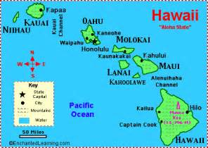 Hawaii Usa Map by Hawaii Facts Map And State Symbols Enchantedlearning Com