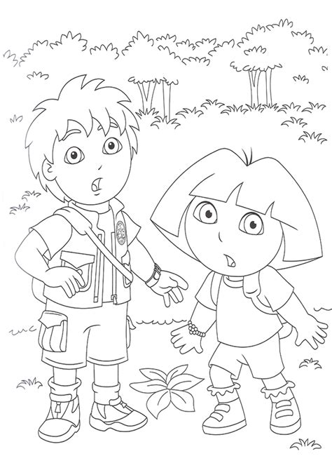 dora and diego coloring page dora and diego coloring pages free coloring home