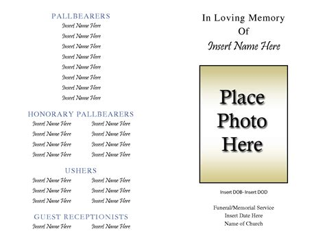 Obituary Layout Templates Pictures to Pin on Pinterest
