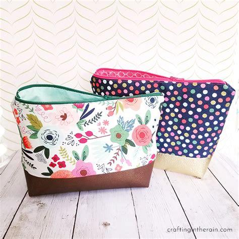 svg pattern tutorial cricut cosmetic bag tutorial crafting in the rain