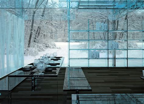 modern architecture house made of glass interiorholic