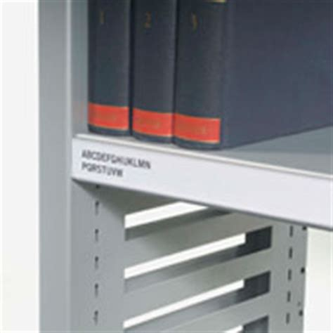 Library Shelf Label Holders by Library Shelving Bruynzeel Storage Systems Ltd