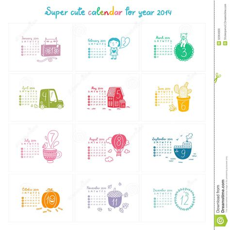 House Planner 3d calendar 2014 royalty free stock images image 32364909
