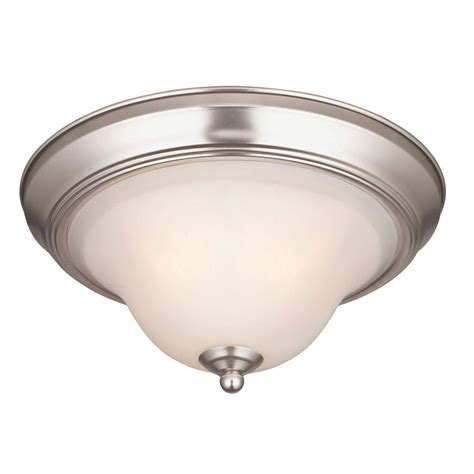 Satin Nickel Ceiling Light Westinghouse Swanstone 1 Light Satin Nickel Ceiling Fixture 6228200 The Home Depot
