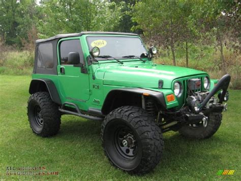 Electric Jeep For 2004 Jeep Wrangler X 4x4 In Electric Lime Green Pearl
