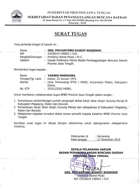 contoh lengkap surat tugas tentang bimbingan dan konseling