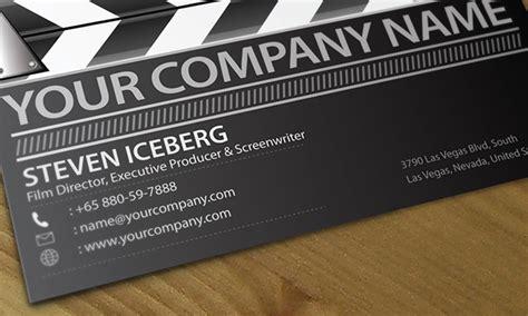 Film Director Creative Business Card Design On Behance Filmmaker Business Card Template