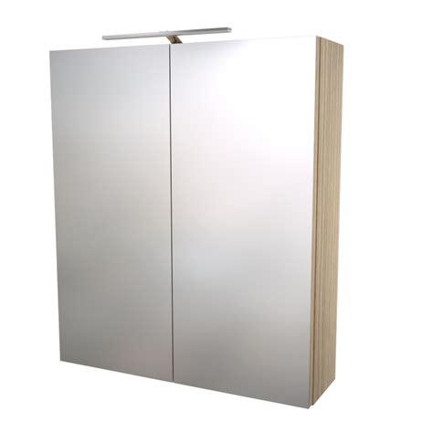 Exceptionnel Armoire De Salle De Bain Avec Miroir Et Lumiere #5: armoire-de-toilettes-avec-eclairage-led-ip33-decor-frene-60x70x13cm.jpg