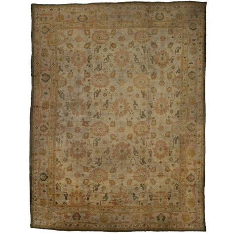 oushak rug antique turkish oushak angora wool oversize rug for sale at 1stdibs