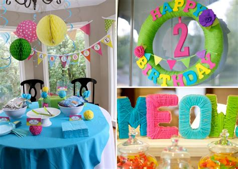 birthday theme decoration kara s ideas cat themed 2nd birthday