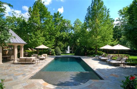 Cottage Style Backyards Rectangular Pool Designs Pool Contemporary With Concrete