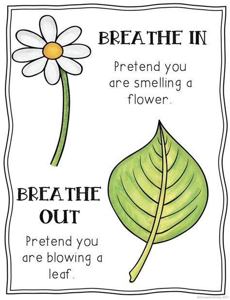 printable mindfulness poster free mindful breathing posters includes 3 posters to help
