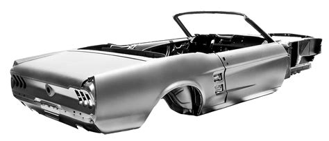 Mustang Auto Body Parts by Latest Ford Licensed Body Shell Lets You Build A New 67