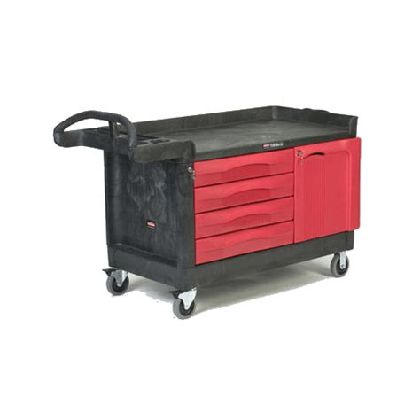 rubbermaid trademaster cart with cabinet rubbermaid 4548 88 bla trademaster cart with 4 and