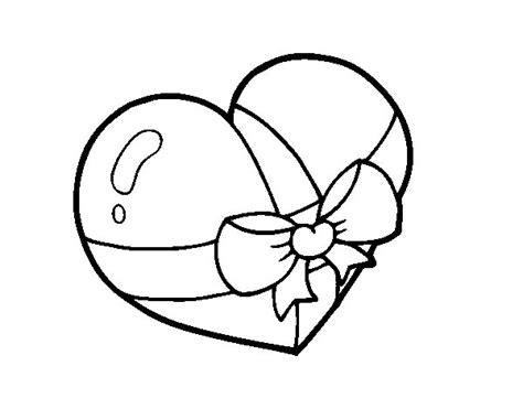 dibujos para colorear regalo del da de la madre dibujo de coraz 243 n regalo para colorear dibujos net