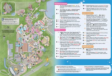 photo  disneys hollywood studios guide map updated