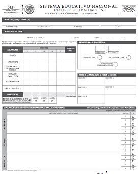 boletas de secundaria 2015 2016 reportes de evaluaci 211 n editables preescolar primaria y