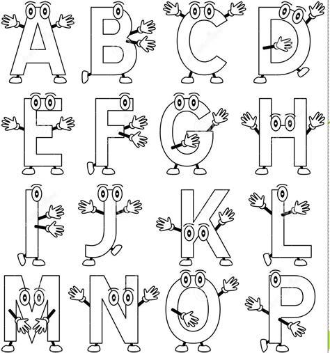 Alfabet Dan Angka aneka gambar mewarnai huruf dan angka