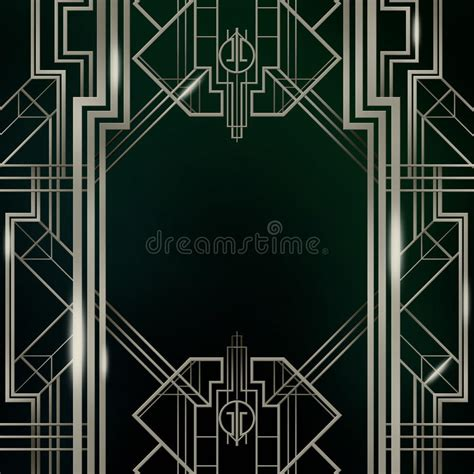 Gatsby Art Deco Background Silver Stock Illustration Illustration Of Glamor Icons 67104198 Gatsby Powerpoint Template