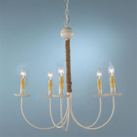 Nautical Chandelier White And Nautical Rope 6 Light Chandelier Chandeliers By Shades Of Light