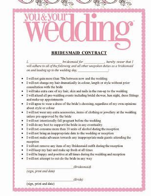 Pledge Card Templates For Weddings by The Awesometastic Bridal Bridesmaid Pledge Wedding