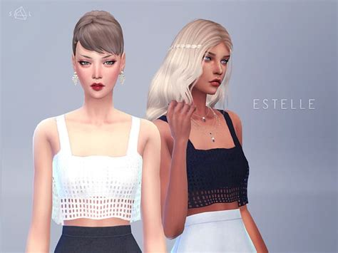 sims 4 cc crop tops cropped tank top estelle by starlord at tsr via sims 4
