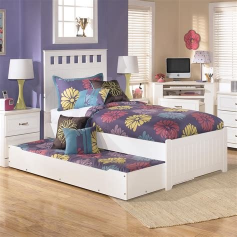used trundle bed signature design by ashley lulu b102 60 trundle under bed