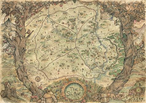 lord of the rings maps artstation the shire lord of the rings map