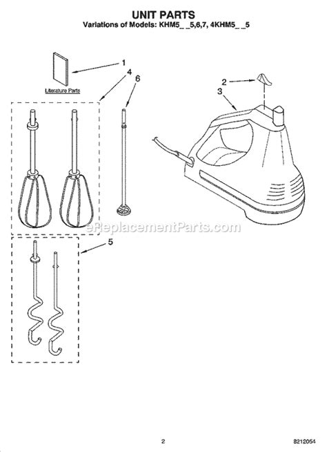 KitchenAid KHM5APOB7 Parts List and Diagram : eReplacementParts.com