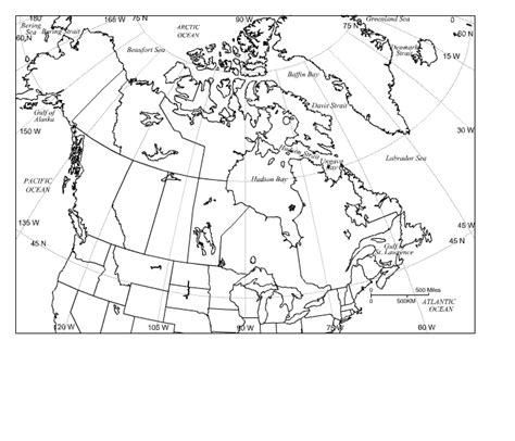 blank physical map of usa and canada blank map of canada to label