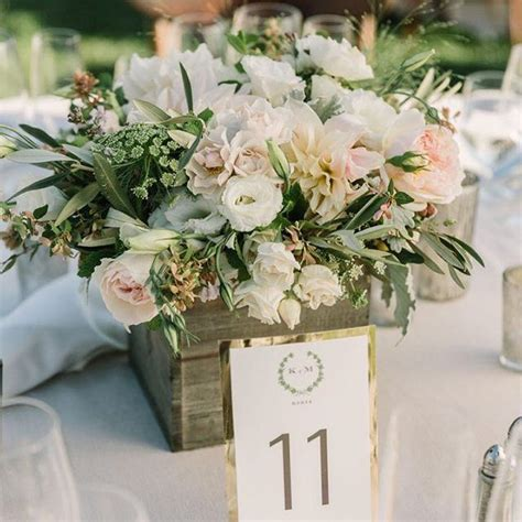 Garden Wedding Flowers Wooden Box Rustic Wedding Centrepiece Country Garden Wedding Ivory And Blush Pink Wedding