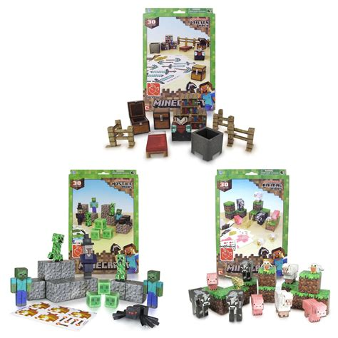 Papercraft Sets - minecraft papercraft 45 assortment set 163 10 00