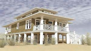 narrow lot beach house plans designs