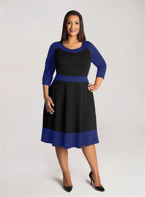 Idw081 Blue Size 14 5 igigi plus size dress size 14 16 color block blue black
