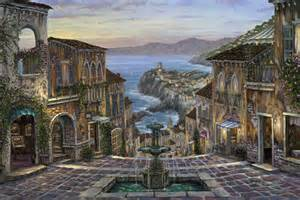 Mountain Wall Murals robert finale summer in vernazza painting italy vernazza