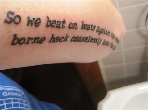 great gatsby tattoo the great gatsby tattoos contrariwise literary tattoos