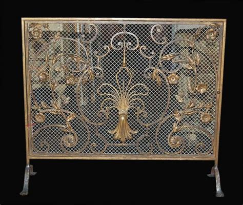 superb french handmade fire screen for sale antiques com