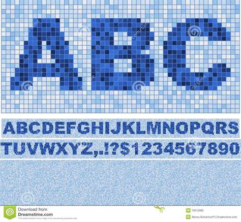 mosaic pattern font mosaic font stock photography image 18312982