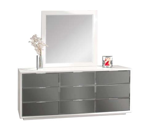 roanoke modern mirrored bedroom furniture dresser modern white bedroom mena with mirrored headboard