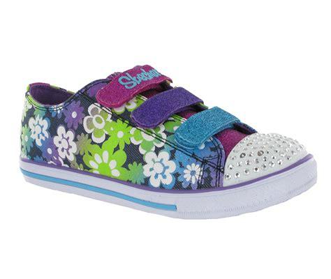 skechers light up shoes girls new girls kids skechers memory foam twinkle toes light up